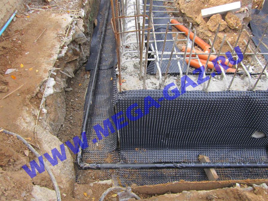 Монтаж подземного газопровода
