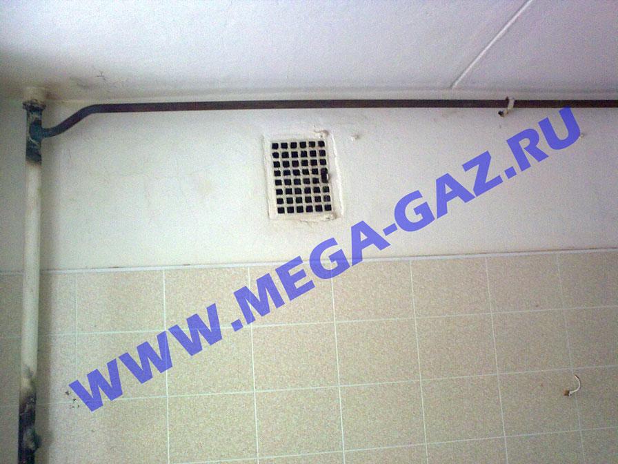 отвод к газовому водонагревателю