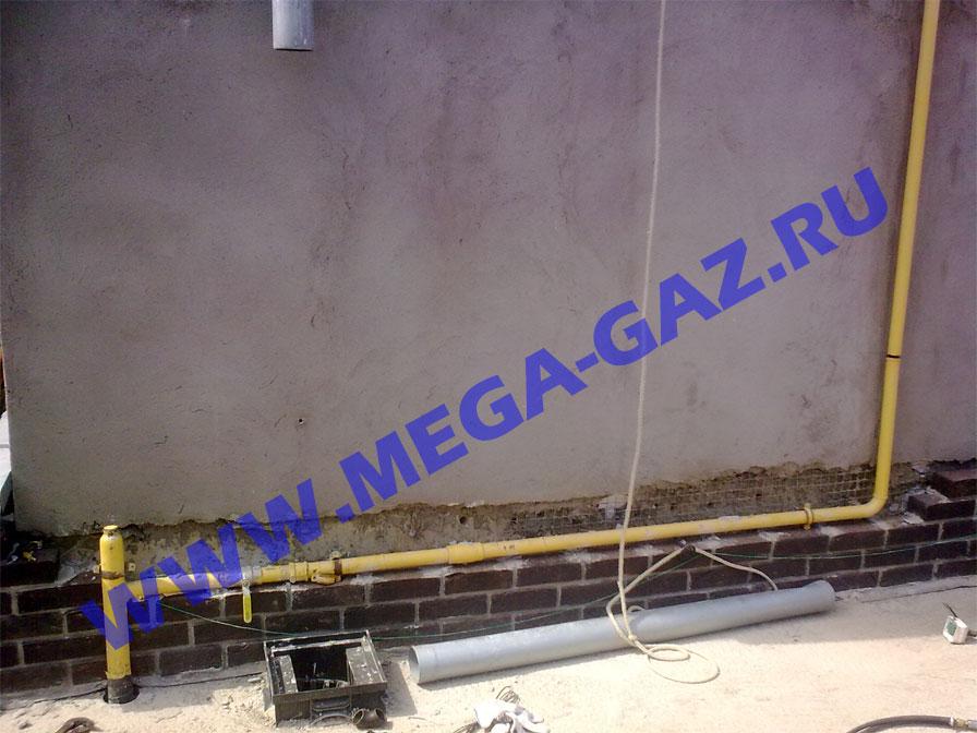 Переделка цокольного газопровода