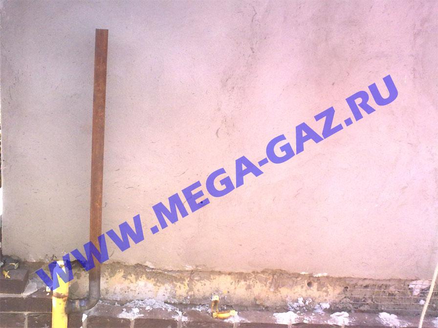 Перенос цокольного газопровода