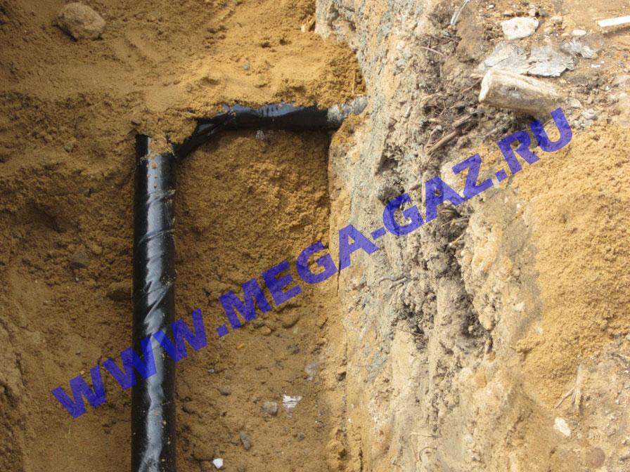 vrezka podzemnogo gazoprovoda